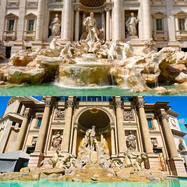 Copies of world famous places are attractive than the original