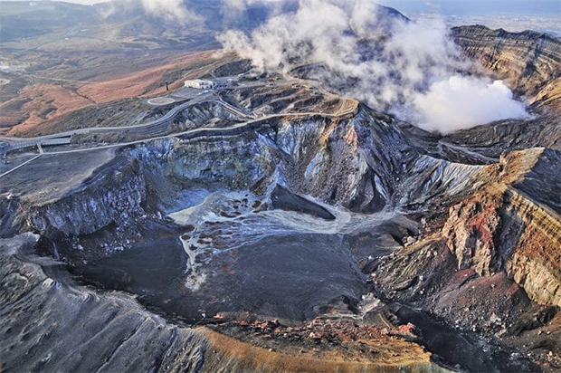 Mount Aso Most amazing and beautiful mountain roads in the world